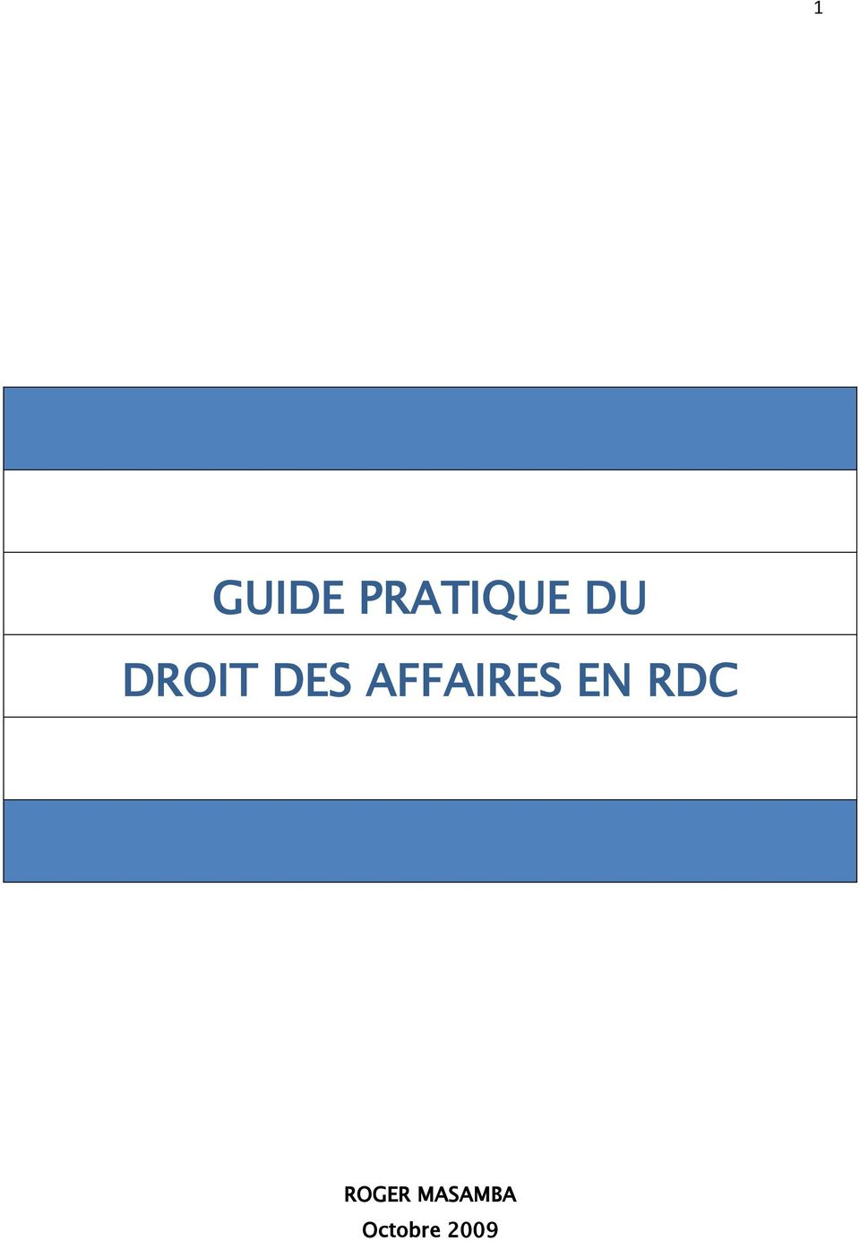 AFFAIRES EN RDC