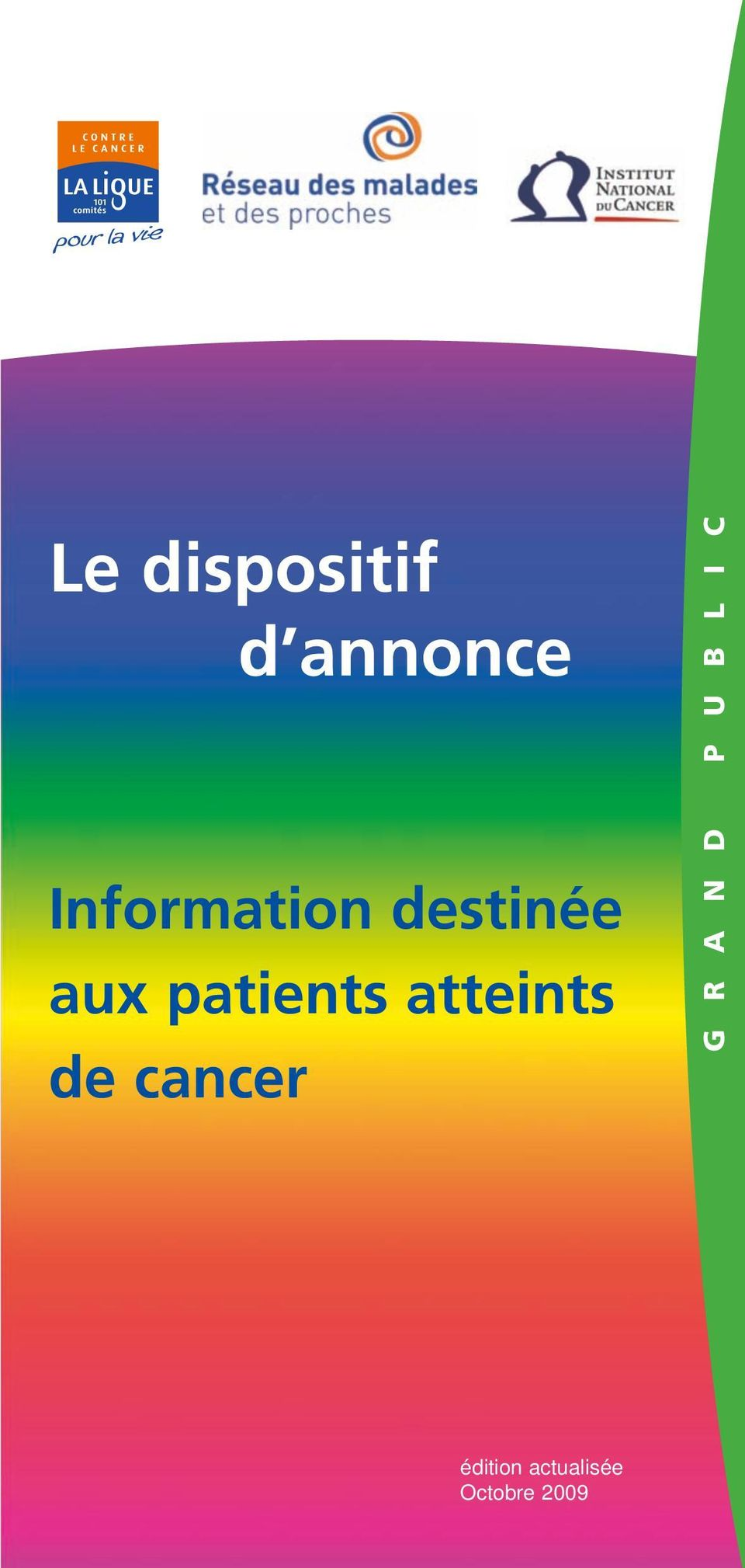 patients atteints de cancer G R