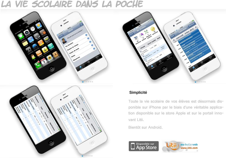 par le biais d une véritable application disponible sur le