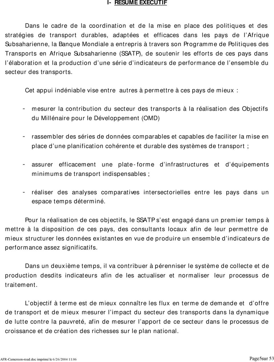 d indicateurs de performance de l ensemble du secteur des transports.