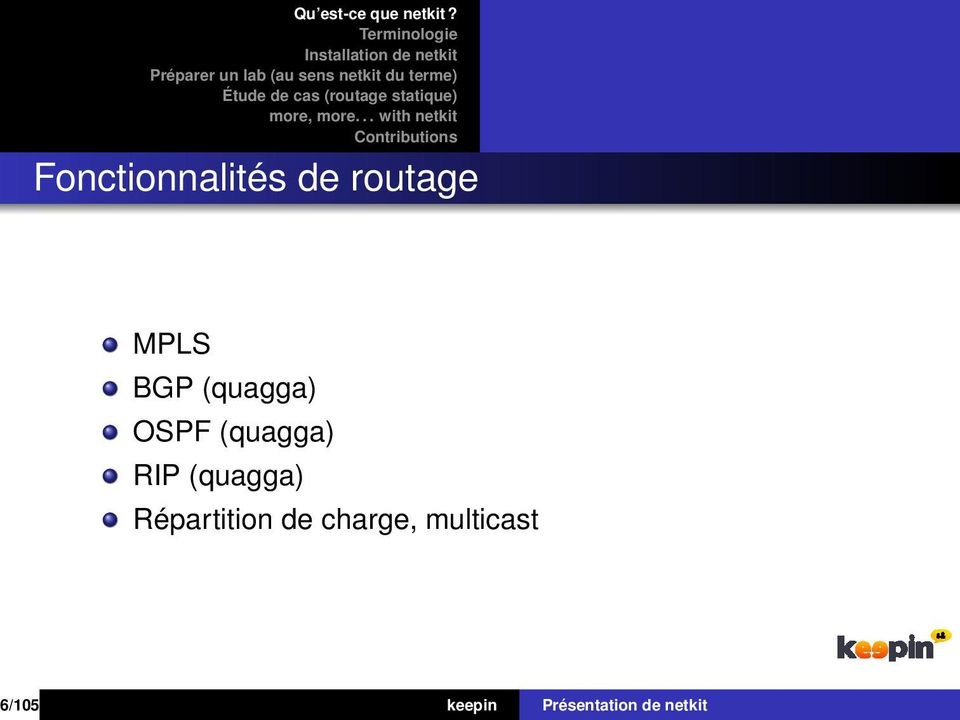 (quagga) Répartition de charge,