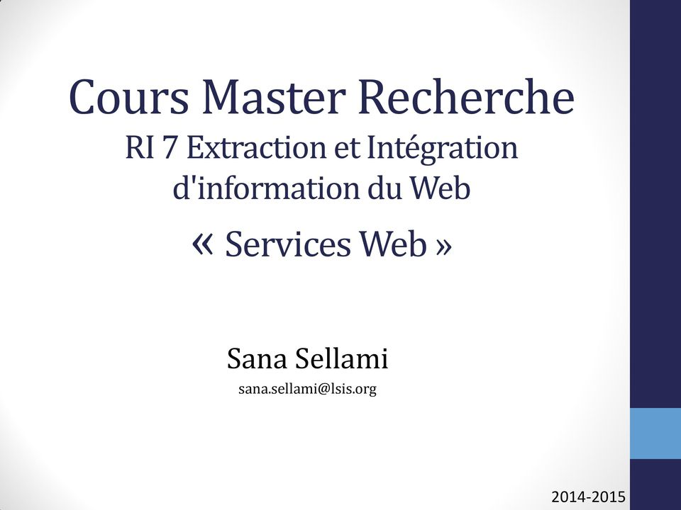 d'information du Web «Services