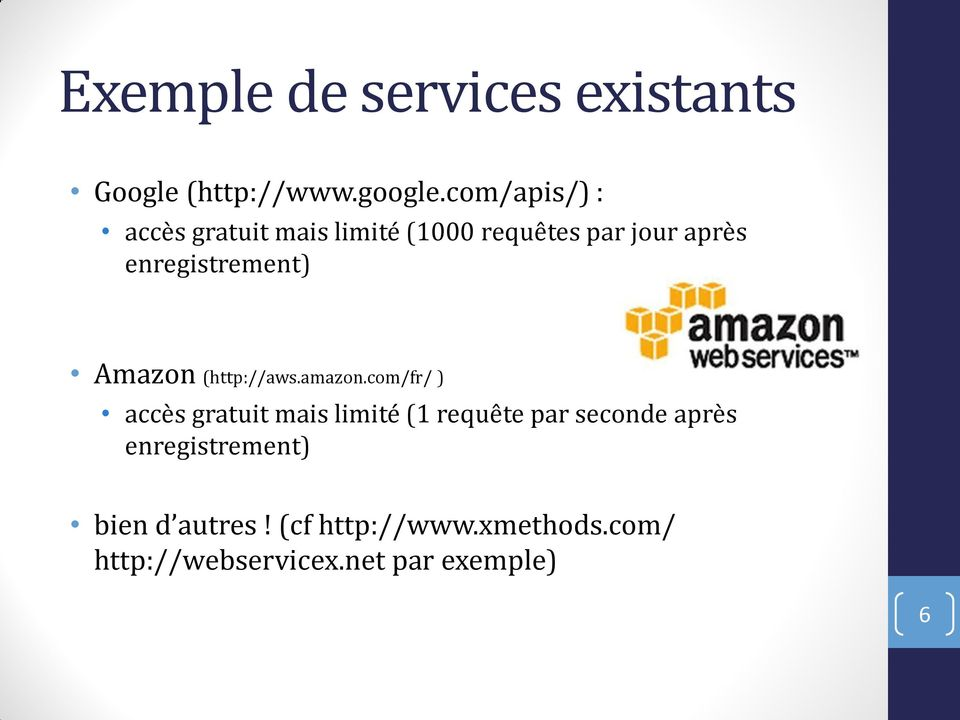 enregistrement) Amazon (http://aws.amazon.