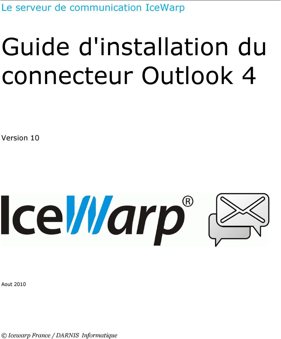 connecteur Outlook 4 Version 10