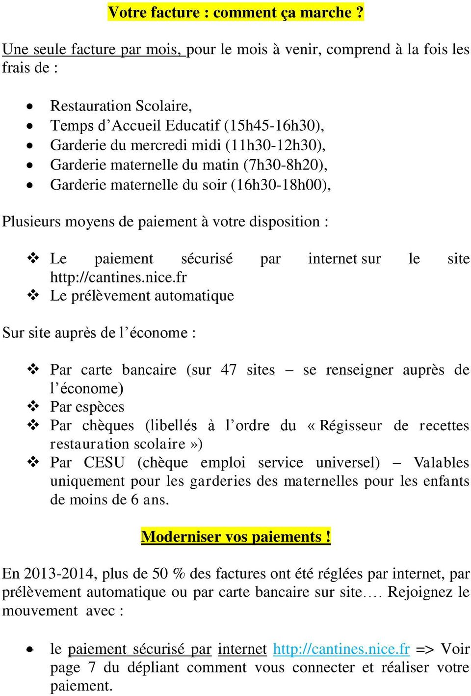 Restauration Scolaire Nice Ordre