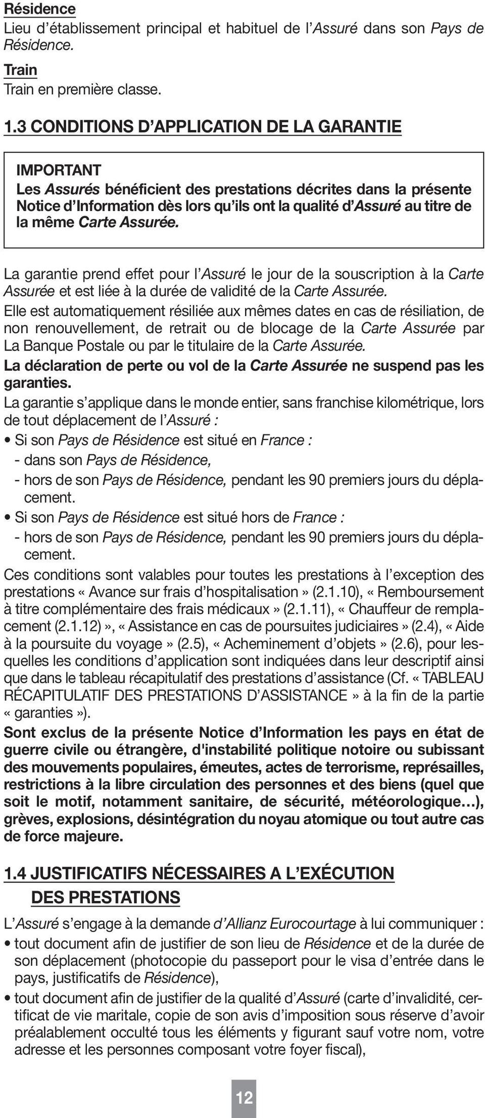 notice d assurance et d assistance de la carte visa premier pdf. Black Bedroom Furniture Sets. Home Design Ideas