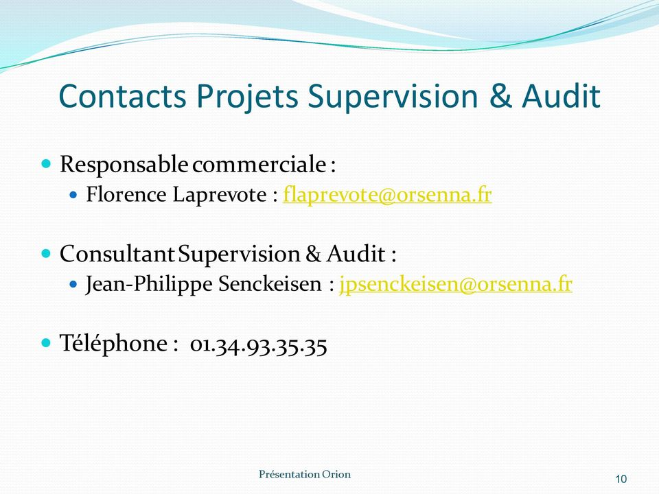 fr Consultant Supervision & Audit : Jean-Philippe