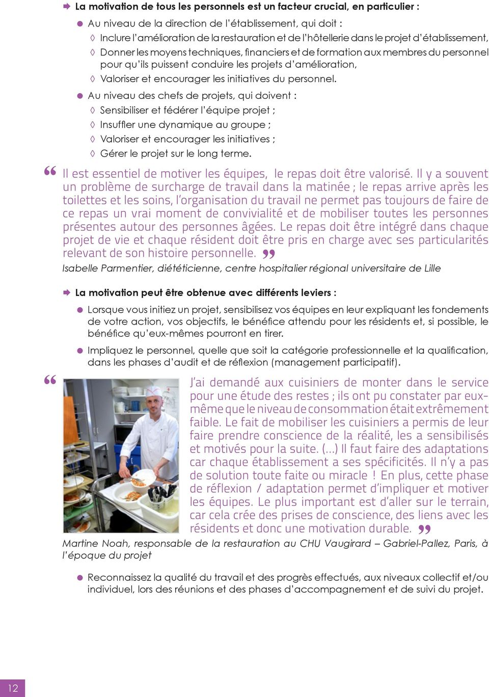 initiatives du personnel.