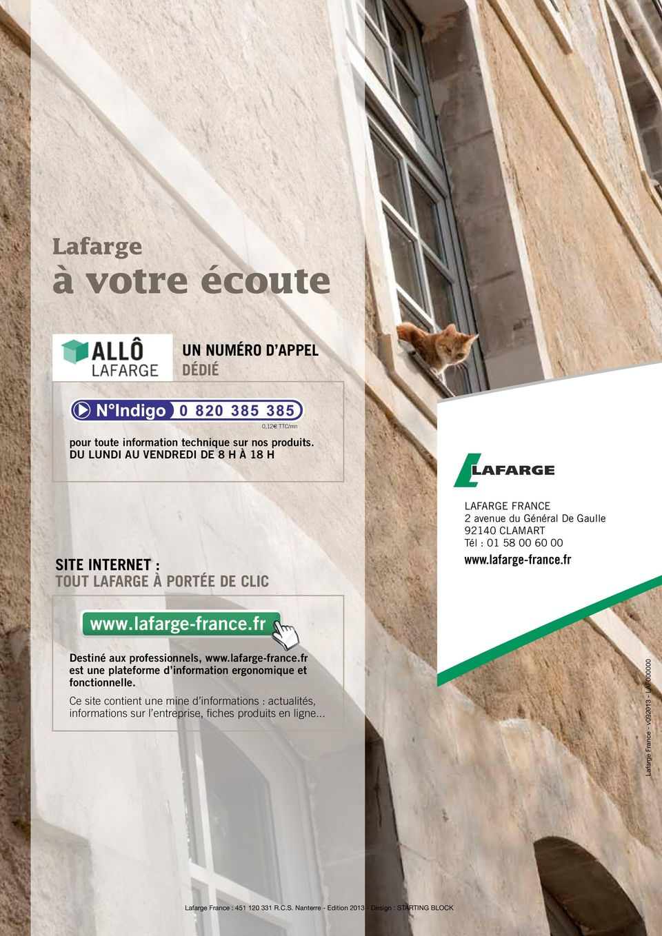 and Country Tel. (+00) (0)0 0000 0000 Tél Fax: : 01 (+00) 58 (0)0 000000 60 00 0000 www.lafarge-