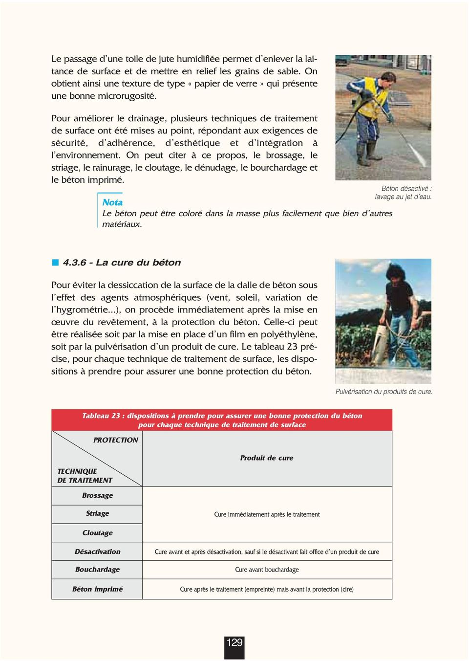 La mise en uvre 1 introduction 4 r alisation d un for Mise en oeuvre beton cire