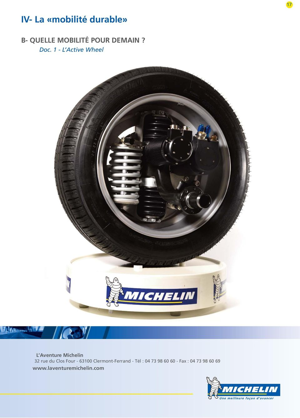 1 - L Active Wheel L Aventure Michelin 32 rue du Clos