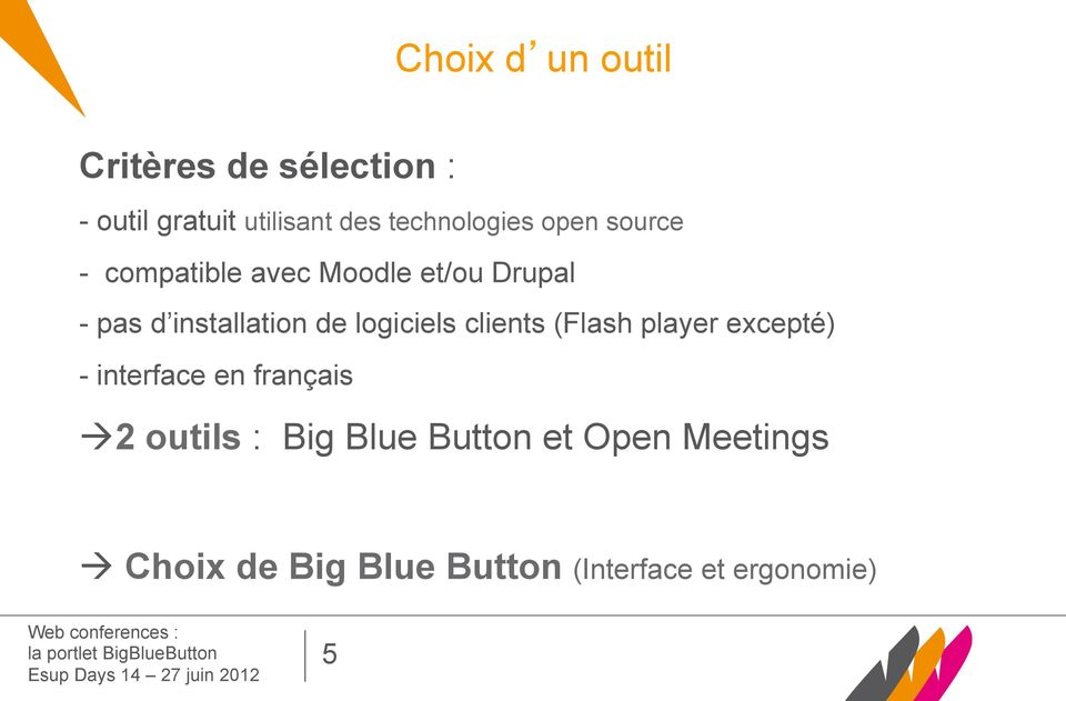 installation de logiciels clients (Flash player excepté) - interface en français