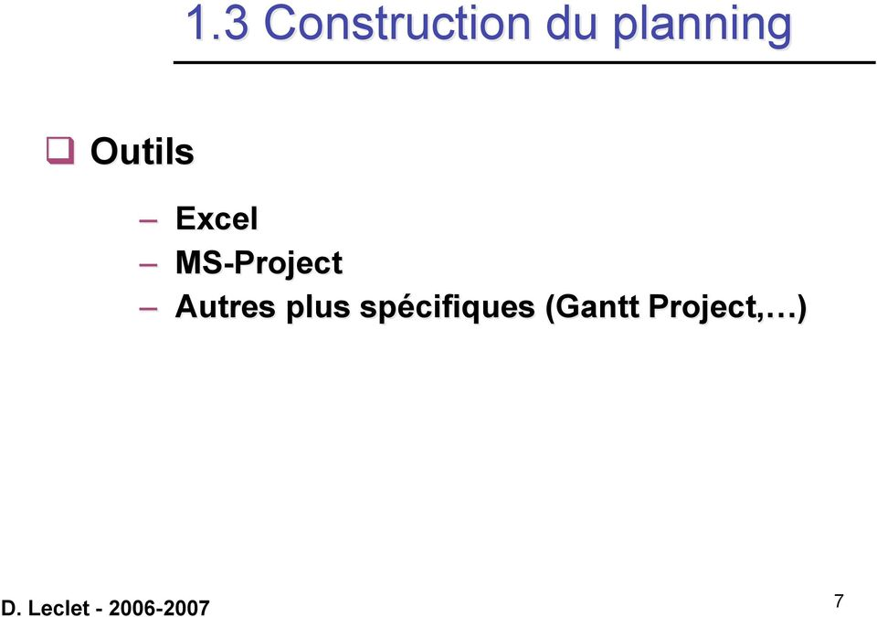 MS-Project Autres plus