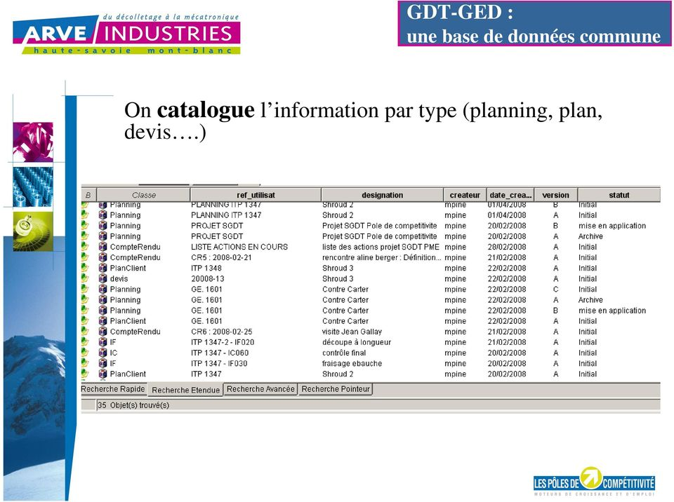 catalogue l information
