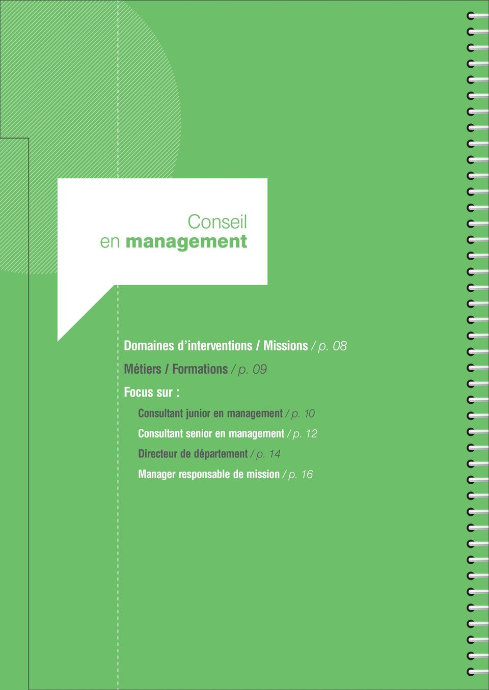 09 Focus sur : Consultant junior en management / p.