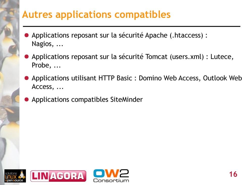 .. Applications reposant sur la sécurité Tomcat (users.