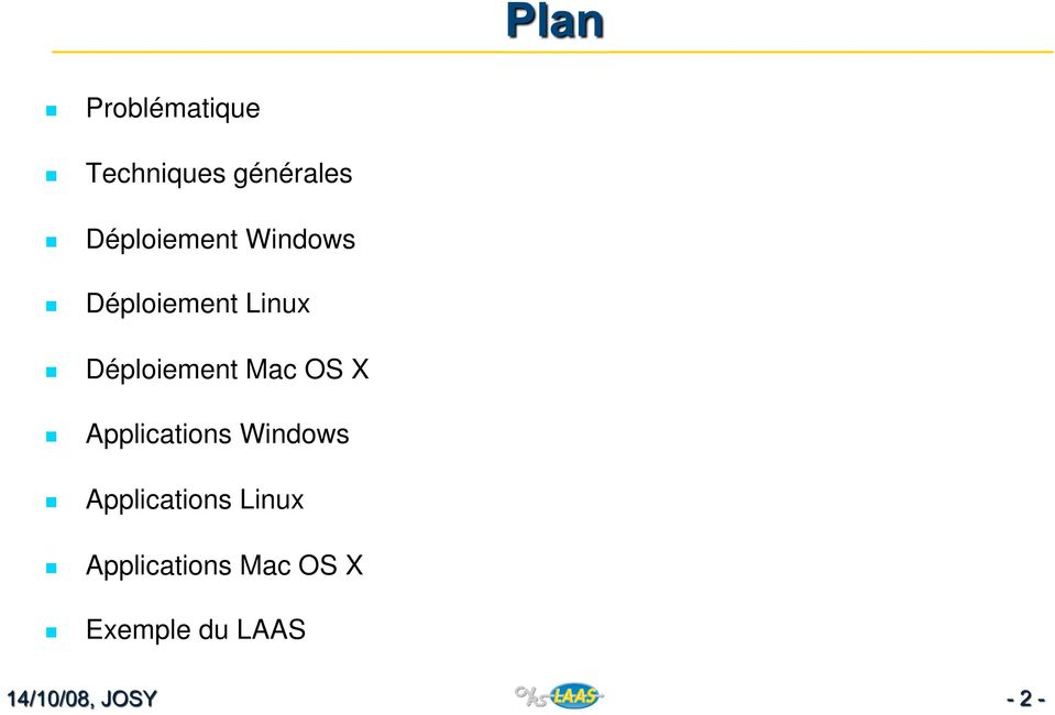 Déploiement Mac OS X Applications Windows