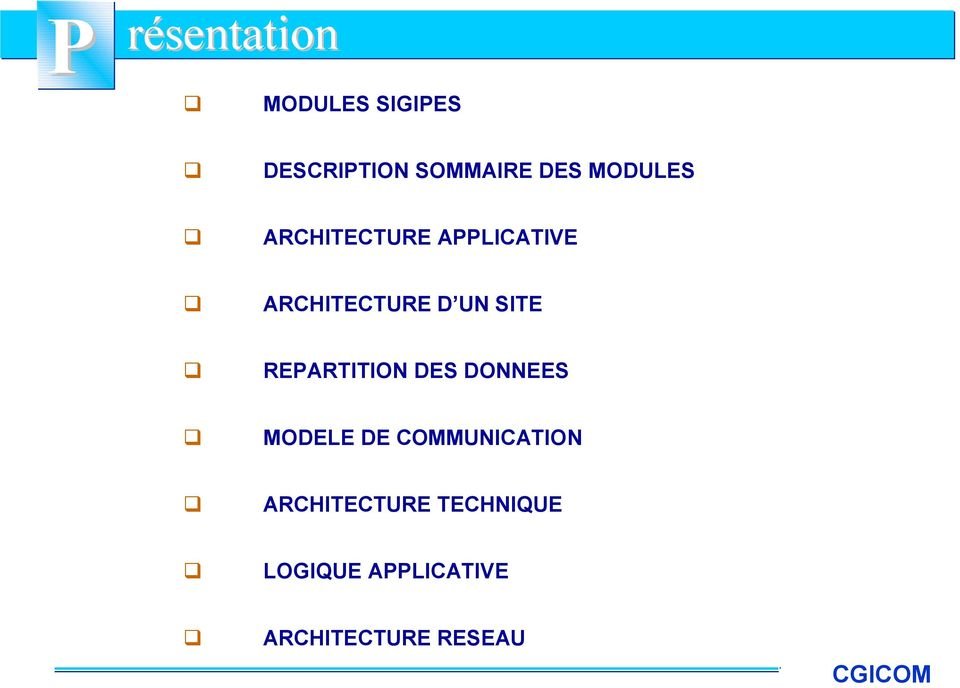 REPARTITION DES DONNEES MODELE DE COMMUNICATION