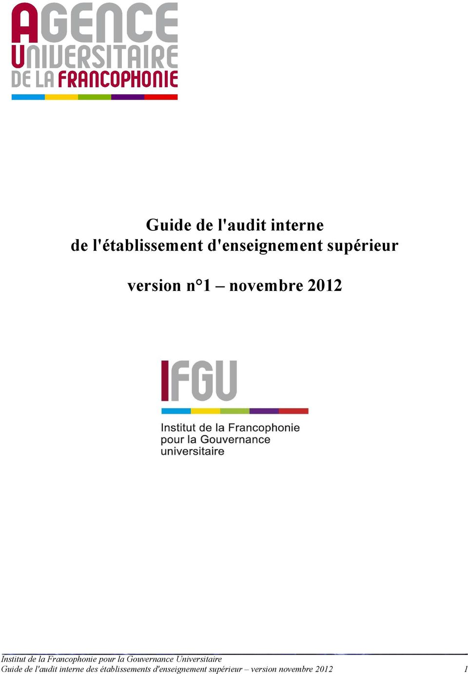 2012 Guide de l'audit interne des