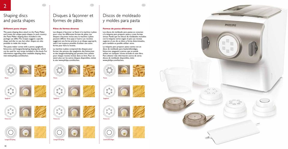 The recipes suggest a specific shape and disc to use, but other shapes are also possible to make the recipe.