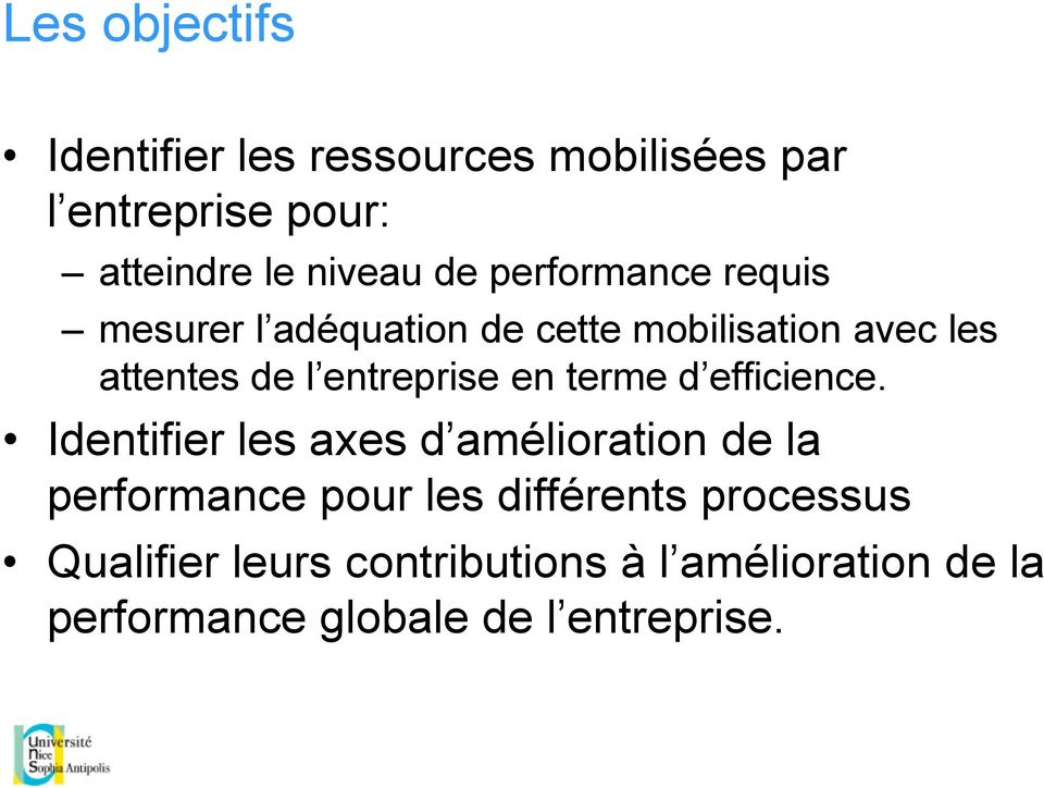 en terme d efficience.