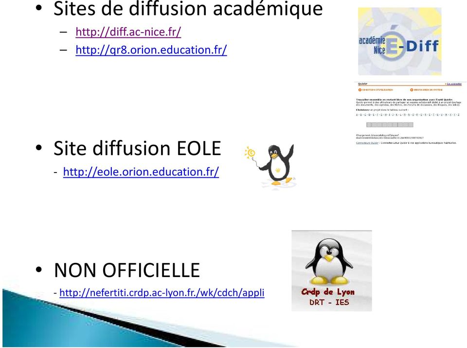 fr/ Site diffusion EOLE - http://eole.orion.