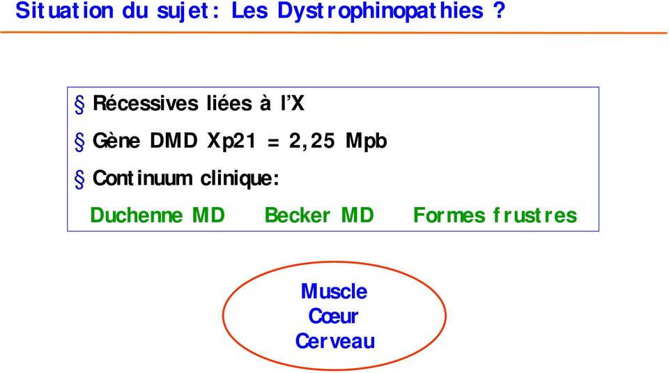 2,25 Mpb Continuum clinique: Duchenne MD