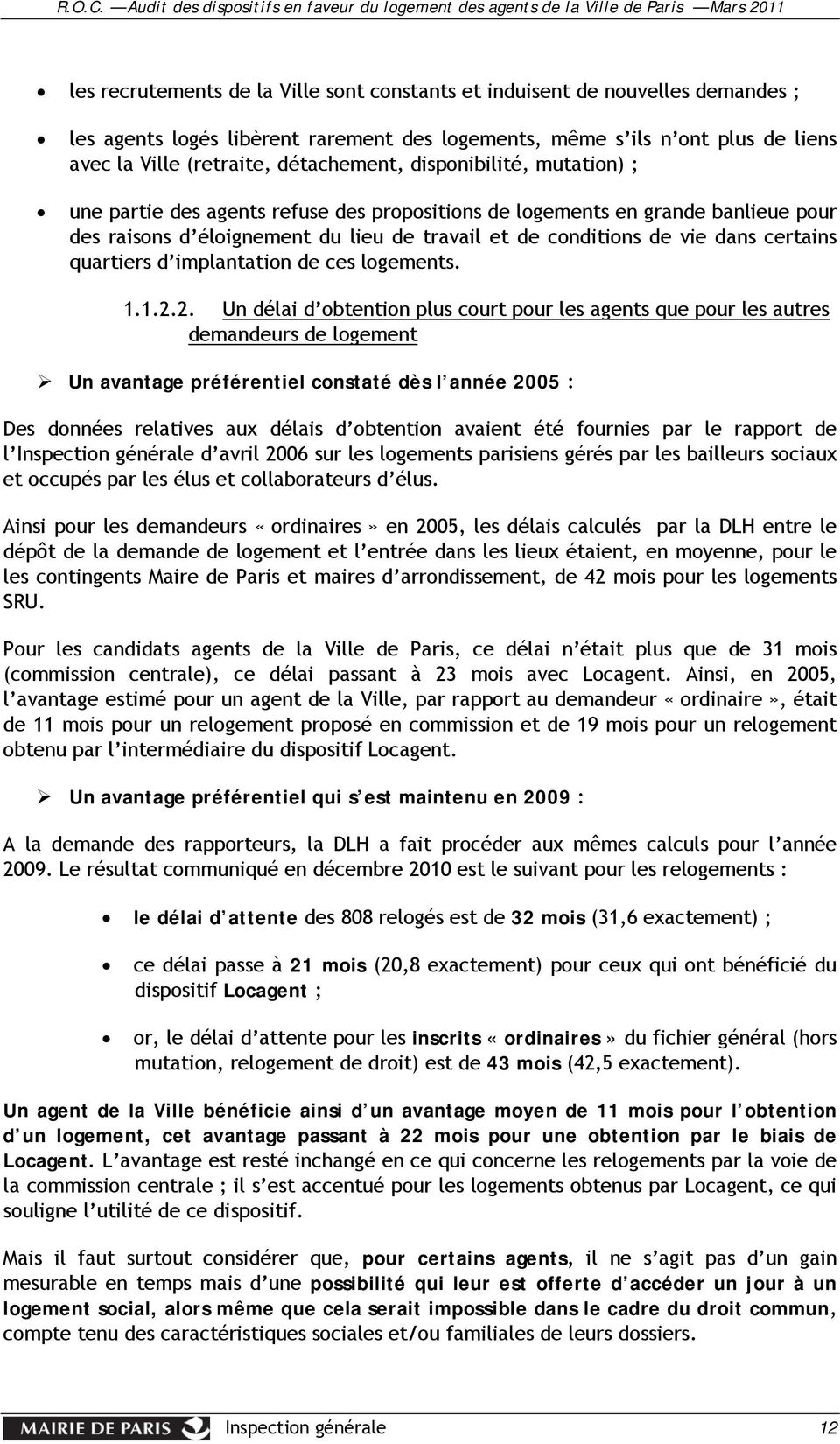quartiers d implantation de ces logements. 1.1.2.