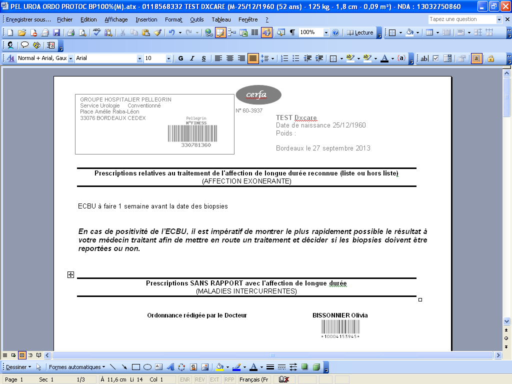 mettre un document en pdf sur word