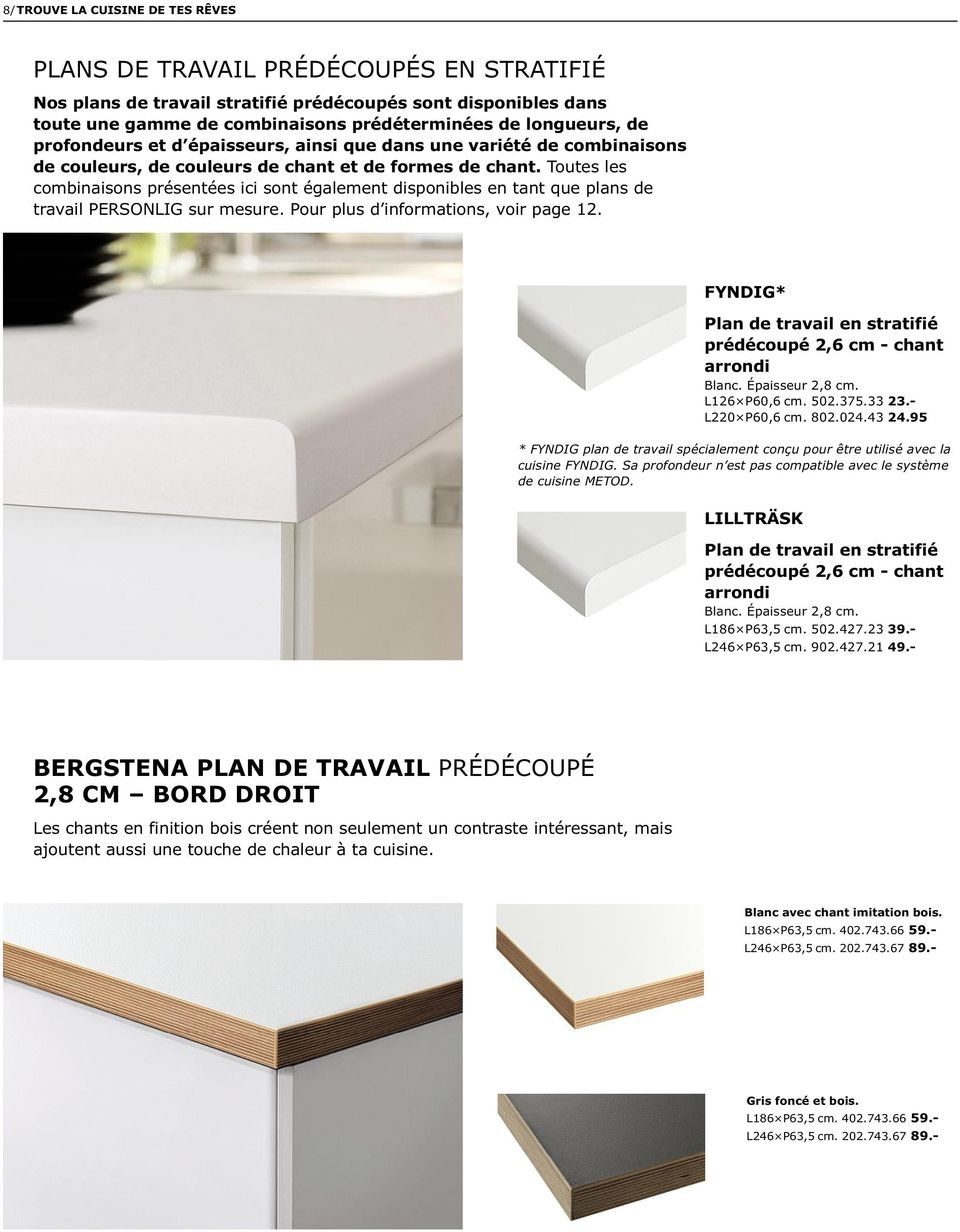plan de travail 50 cm de profondeur excellent plan de travail sur mesure en solid surface pour. Black Bedroom Furniture Sets. Home Design Ideas