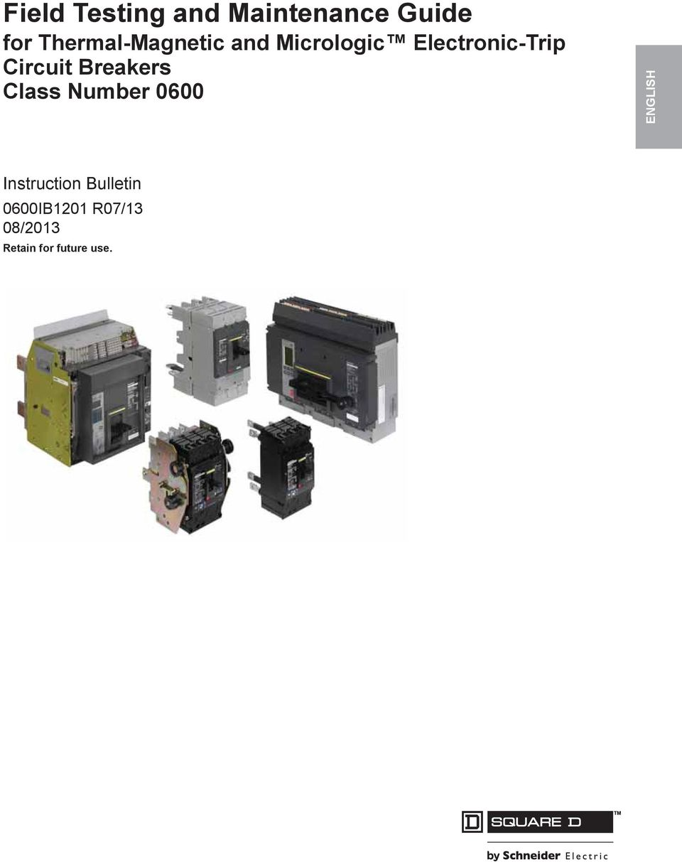 Circuit Breakers Class Number 0600 ENGLISH