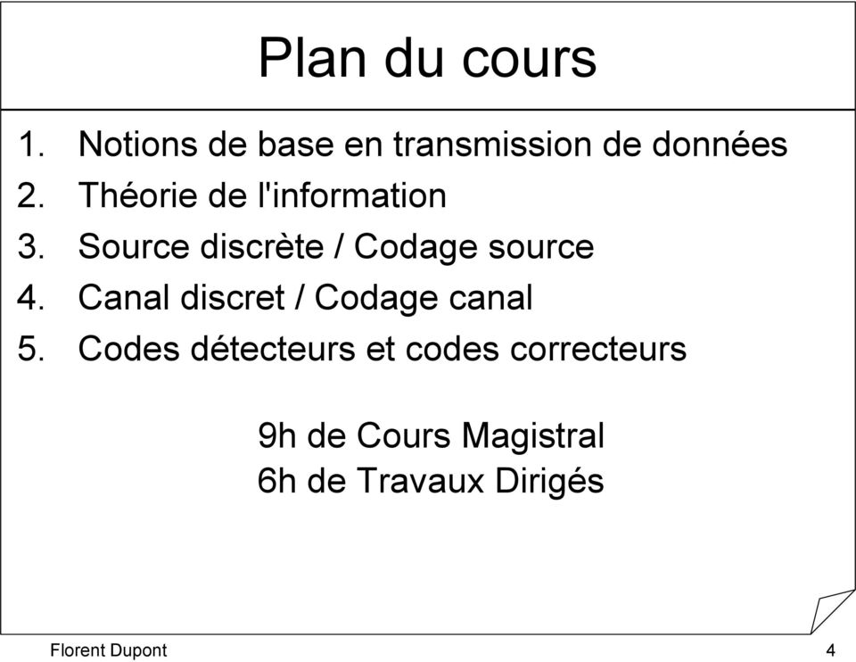Canal discret / Codage canal 5.