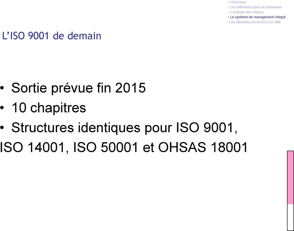 Structures identiques pour ISO