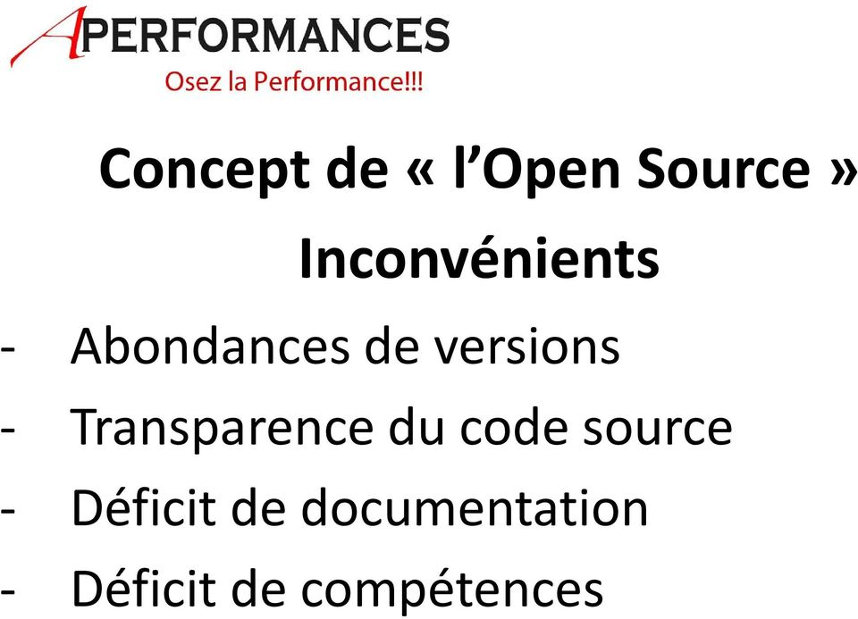 versions - Transparence du code