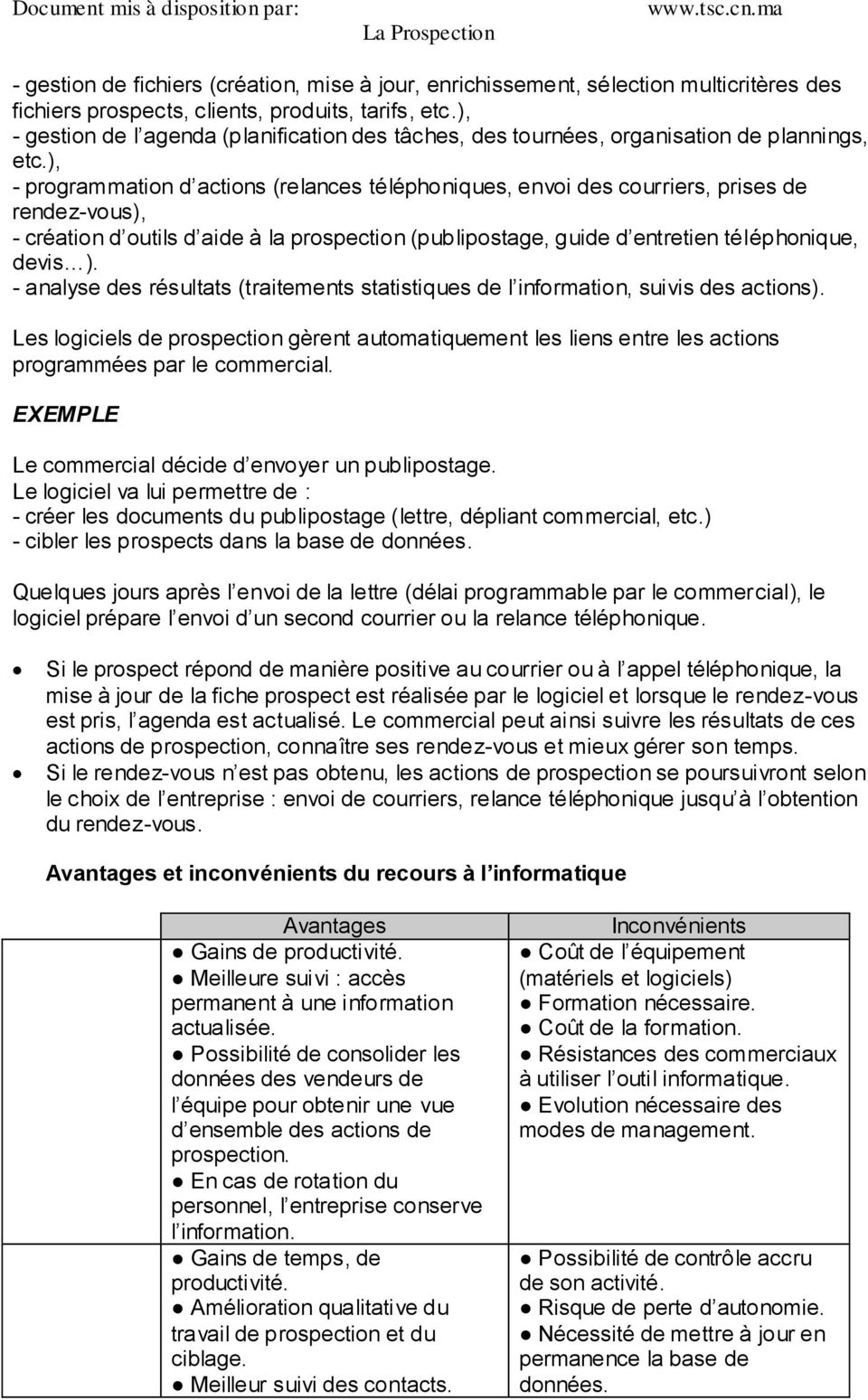 exemple de lettre de prospection commerciale gratuite