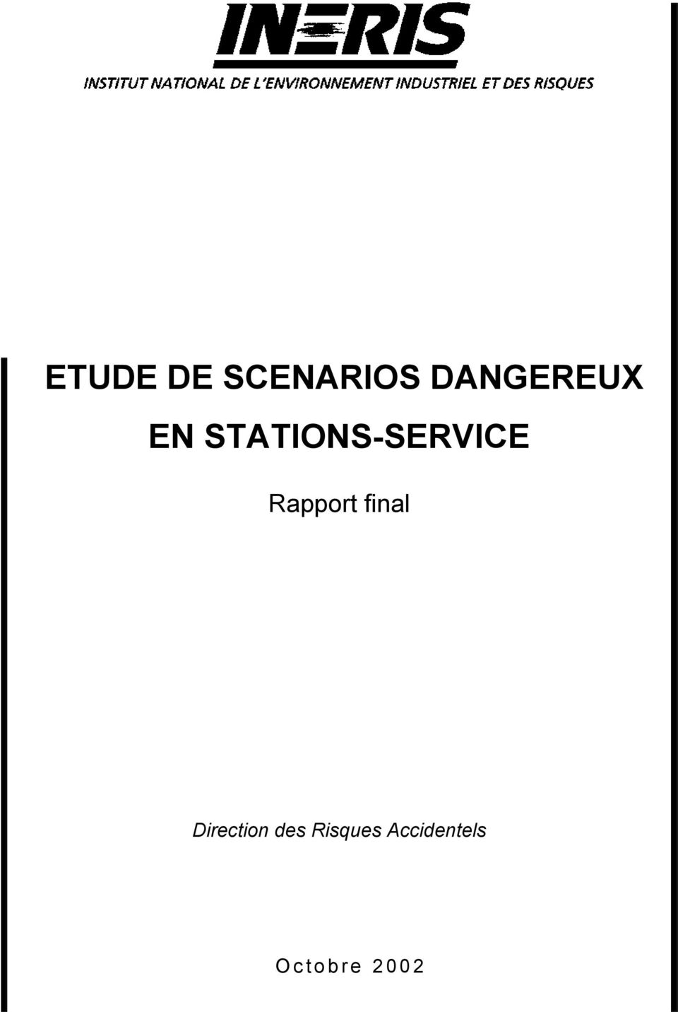 STATIONS-SERVICE Rapport