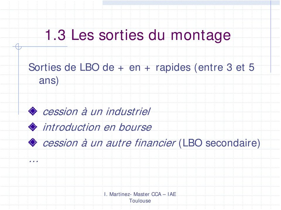 cession à un industriel introduction en