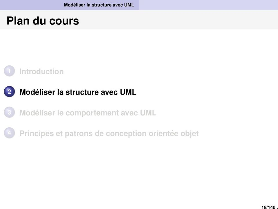 Introduction 2 Modéliser la structure avec UML