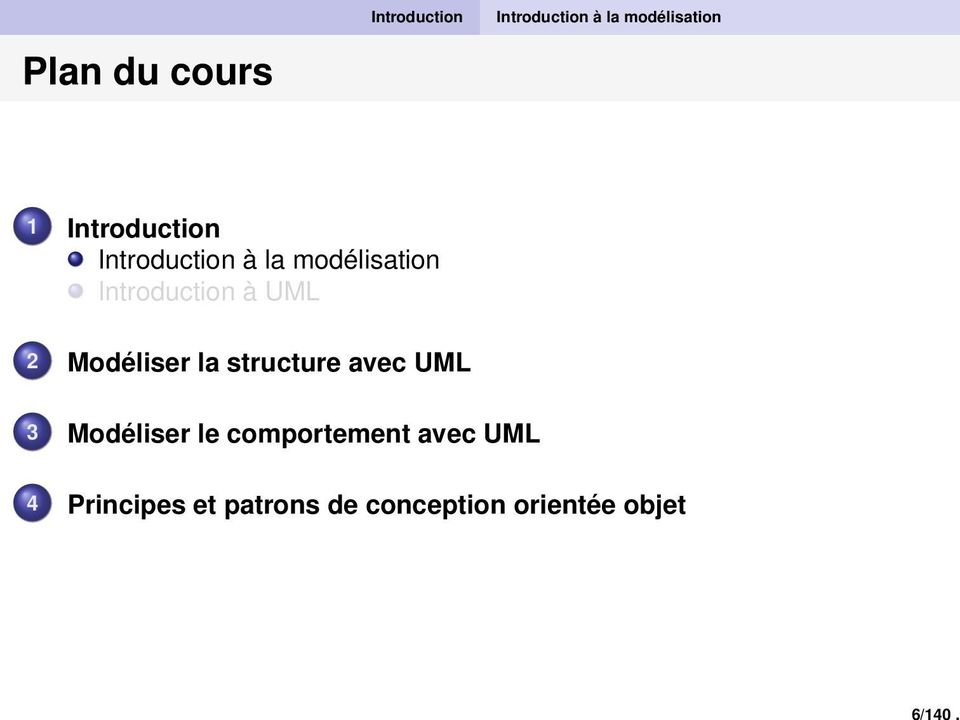 Introduction Introduction à la modélisation Introduction à UML