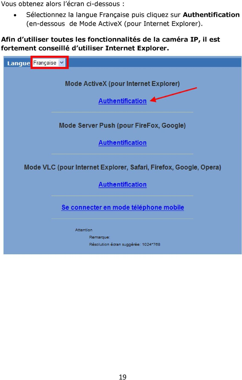 ActiveX (pour Internet Explorer).