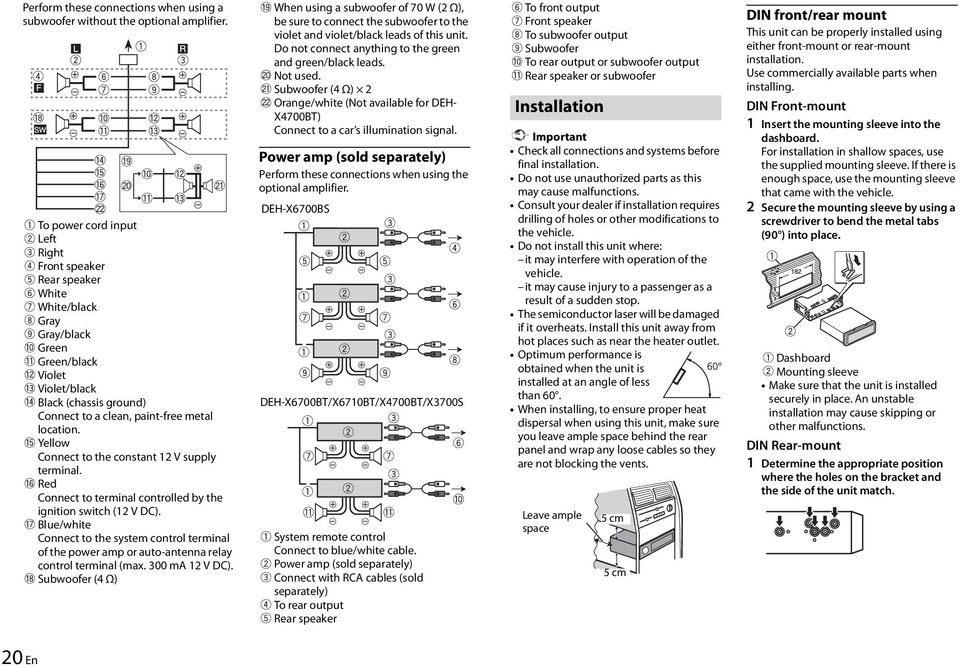 pioneer deh x6700bt wiring diagram  pioneer  discover your