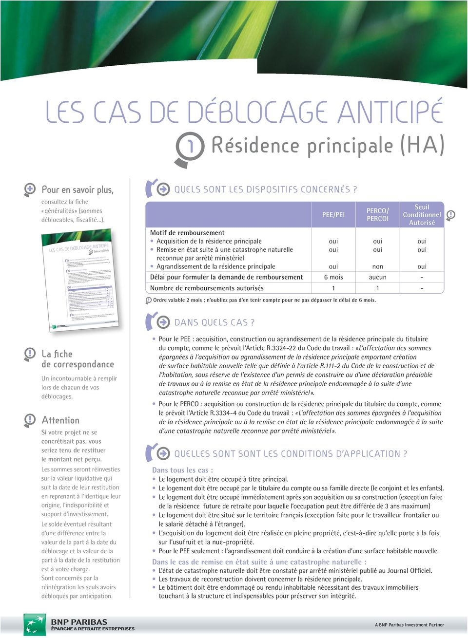 condition deblocage epargne salariale