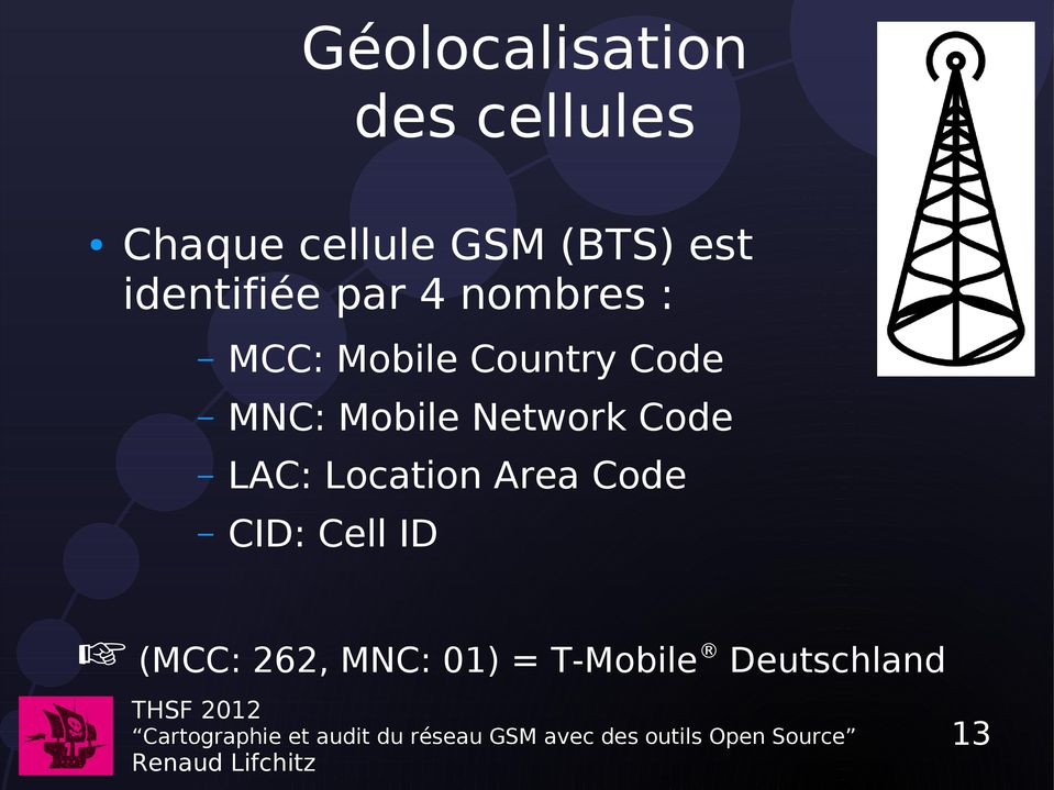 Code MNC: Mobile Network Code LAC: Location Area Code