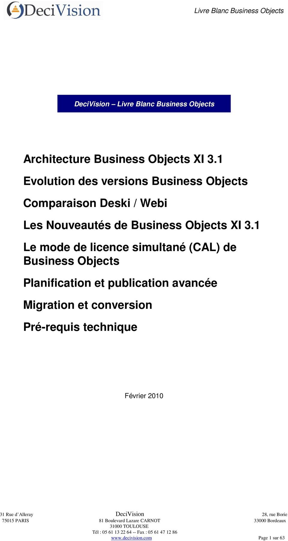 Business Objects I 3.