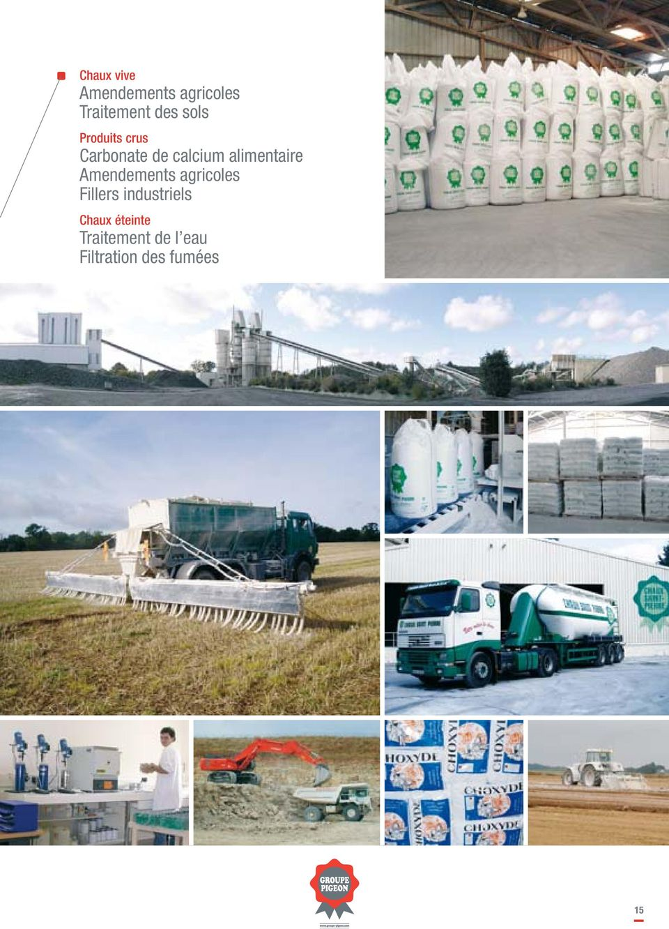 alimentaire Amendements agricoles Fillers