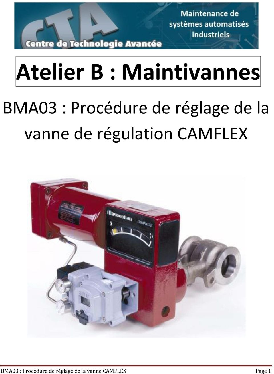 régulation CAMFLEX BMA03 :