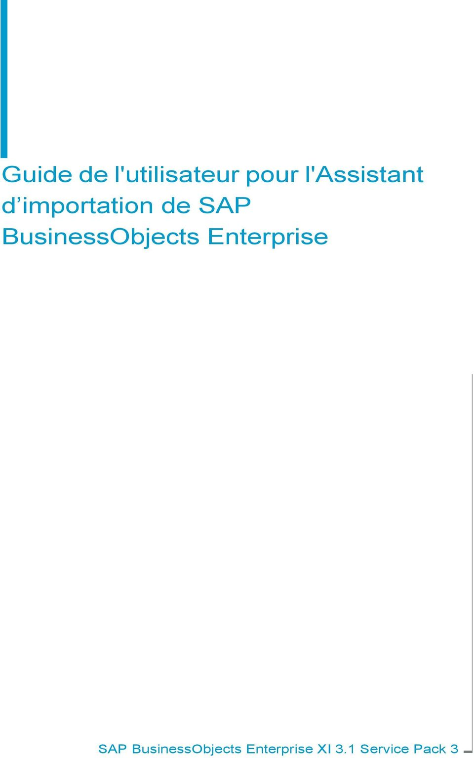 BusinessObjects Enterprise SAP