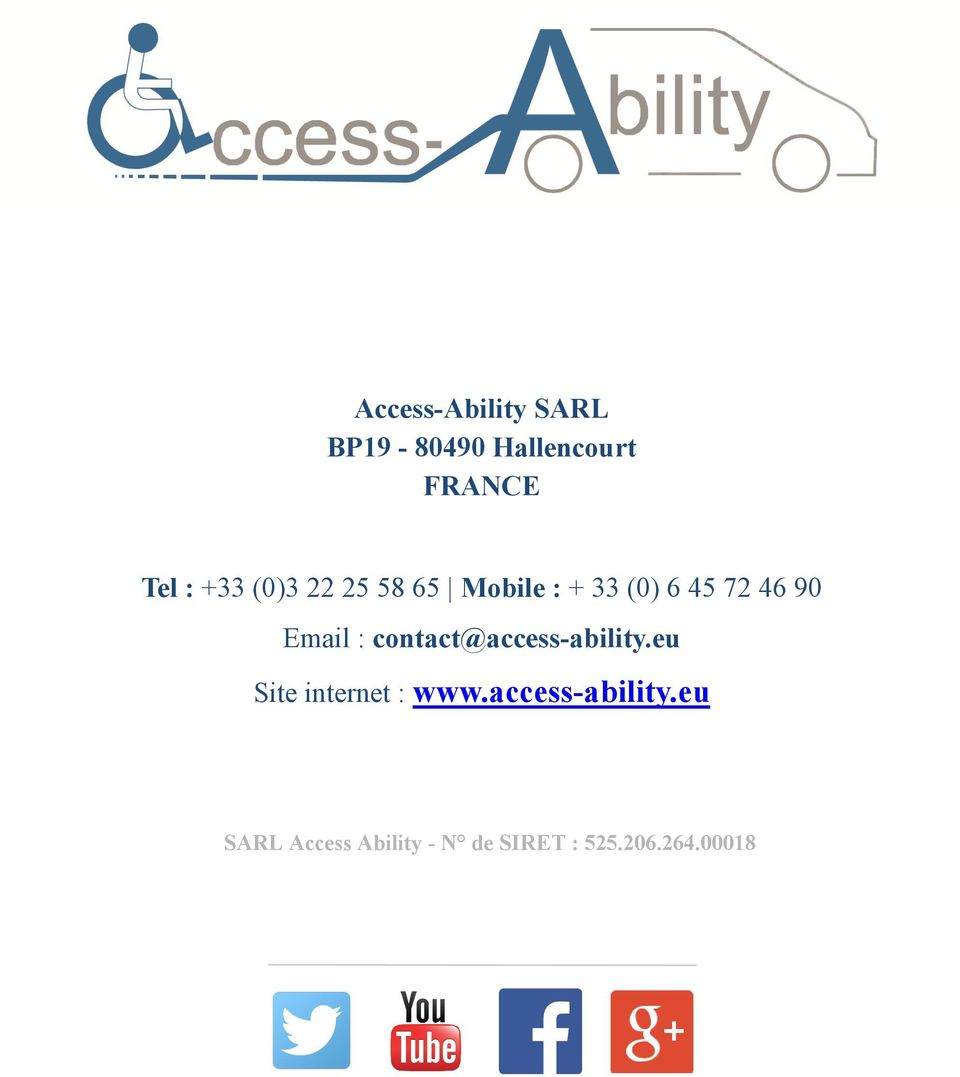 contact@access-ability.eu Site internet : www.