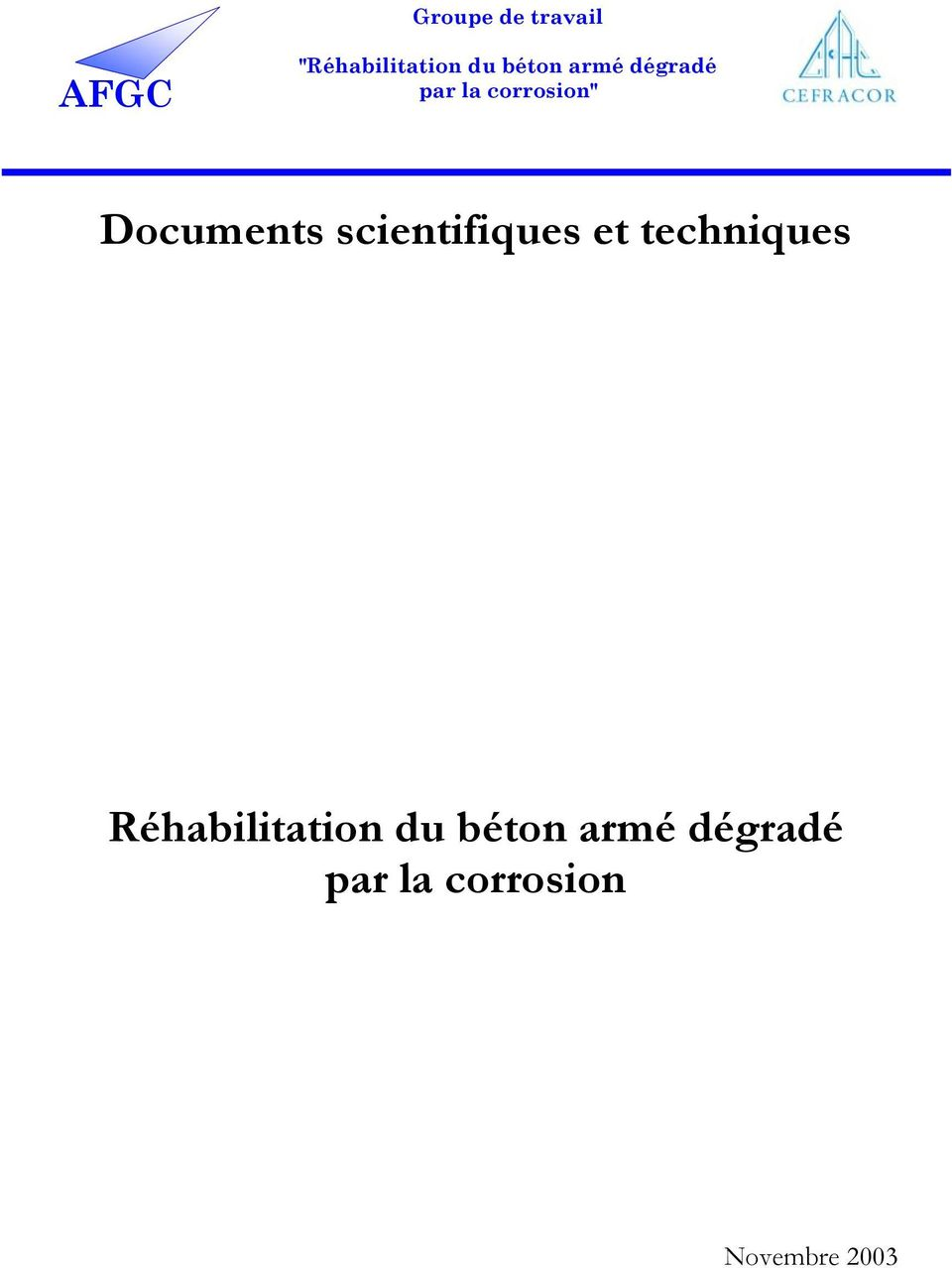 Documents scientifiques et techniques