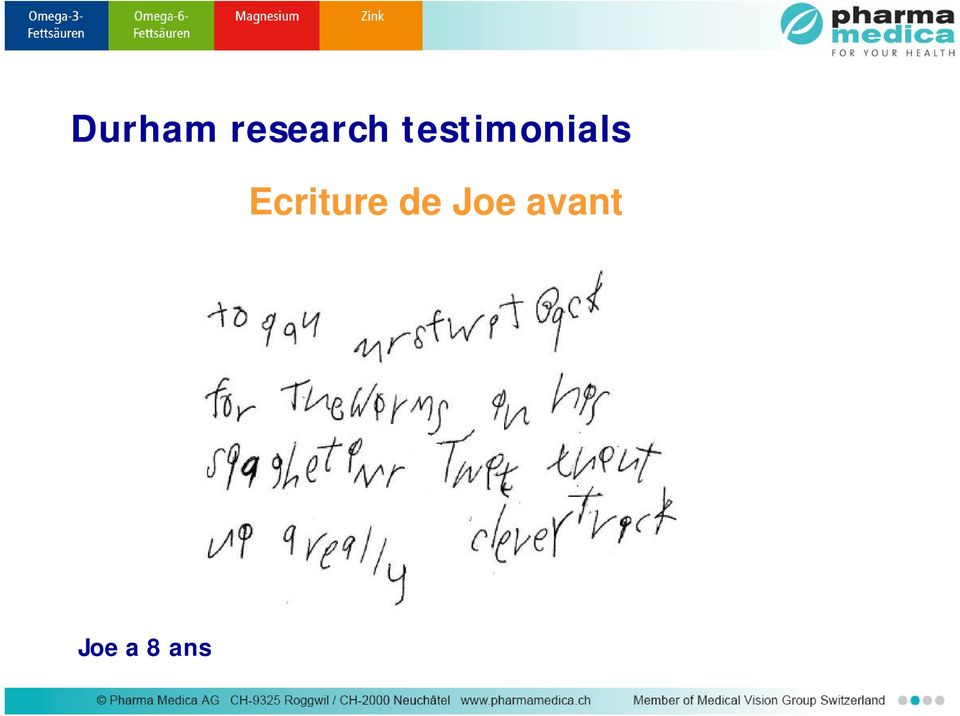 Ecriture de Joe